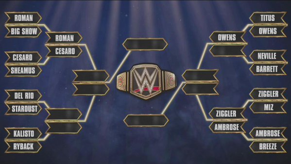 I was really hoping we'd see Cesaro vs Stardust at some point during this, but it looks like our title match will be Roman Reigns vs Dean Ambrose. (Source: wrestlinginc.com)