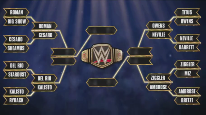 Quarter final matches all set up for next week's Raw on Monday (Source: wwe.com)