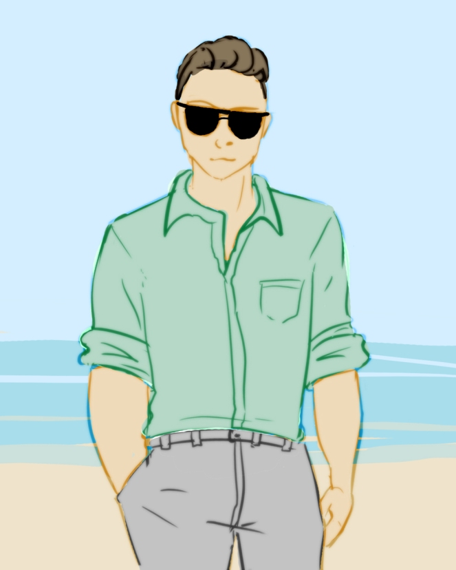 The Miz, the only man who would legitimately wear chinos on the beach.