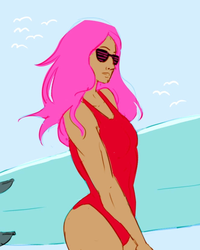 Baywatch Sasha Banks - more like BABEwatch, right?
